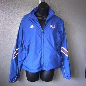 University of Kansas KU Adidas Windbreaker Jacket